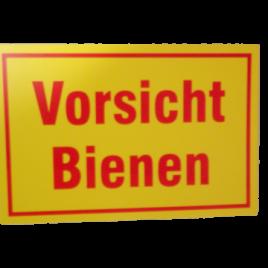 """Warnschild """" Vorsicht Bienen """" gelb"""