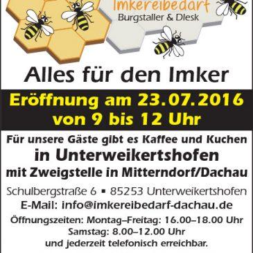 Eröffnung unseres Shops in Unterweikertshofen am 23.7.2016