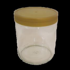 Neutrale Honiggläser 500g mit Plastikdeckel