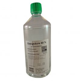 Essigsäure 60%, 1Liter Flasche
