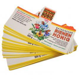 Blütenhonig – Etiketten für 500g, nassklebend