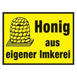 Honig Werbeschild klein 15×20 cm