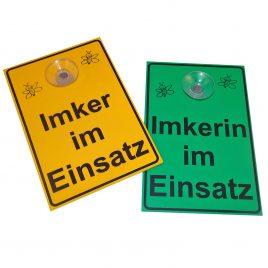 """Saugnapfschild """"Imker oder Imkerin im Einsatz"""""""