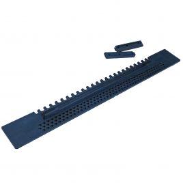 Fluglochschieber Plastik blau 50x430mm