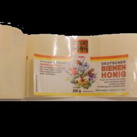 Blütenhonig – Etiketten für 250g, selbstklebend
