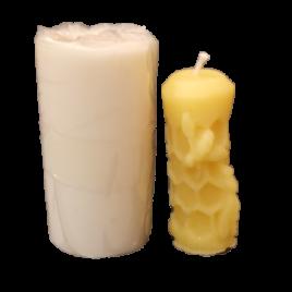 Gießform Stumpen mit Wabe + Biene